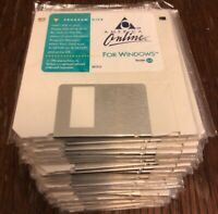 Lot Of 50: America Online Floppy Disks Program Disk For Windows Version 3.0