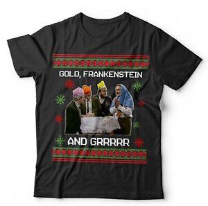 Bottom Christmas Tshirt Unisex & Kids - Funny, Rik Mayall, Xmas, Gift