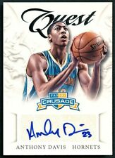 ANTHONY DAVIS 2012 PANINI CRUSADE QUEST AUTO AUTOGRAPH ROOKIE RC #3 LAKERS STAR