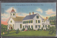 St. Peter's Catholic Church and Rectory Built in 1874 Stamped 1954 #D16