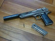 DEsert Eagle w/ Silencer Pistol Display model, Downsized (~1/2.5), Metal