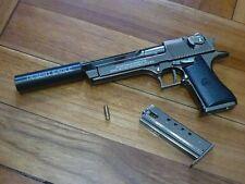 DEsert Eagle w/ Silencer Pistol Display model, Downsized (~1/2.5), Metal