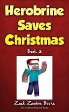 Herobrine Saves Christmas-NEW softcover book-Minecraft