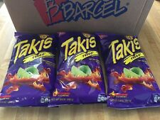 Takis Fuego Hot Chili Pepper & Lime Flavored Corn Snacks, X3 Bags ( 9.9 oz.)