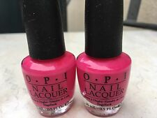 2 x Opi That'S Hot! Pink (Nl B68) 100% Authentic!