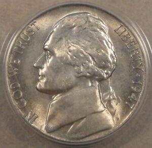 1947-S Jefferson Nickel 5c ANACS Certified MS66