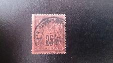 TIMBRE FRANCE TYPE SAGE N°91 OBLIT25C NOIR S ROUGE VALEUR 25€