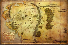MIDDLE EARTH - MAP POSTER - 24x36 - LORD OF THE RINGS HOBBIT 2588