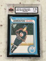 WAYNE GRETZKY 1979-80 O-PEE-CHEE OPC RC ROOKIE CARD KSA 7.5 NOT 7 OR 8