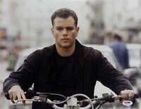 Matt Damon Signed 11x14 Photo PSA/DNA The Bourne Identity Auto Autograph