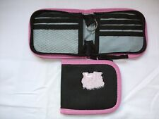 New 12 x ICE BABE Wallets  Black with Pink Trim and Key Ring