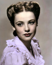 """GENE TIERNEY ACTRESS THE RETURN OF FRANK JAMES 8x10"""" HAND COLOR TINTED PHOTO"""