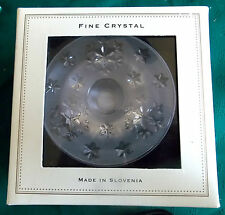 Bella Lux Fine Lead Chrystal Candle Holder/Made in Slovenia