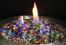 10 Lbs RAINBOW MIX FIREGLASS Fireplace Fire Pit Glass