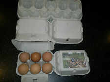 NEW 250 HALF DOZEN QUALITY 'FLAT TOP' EGG BOXES SUITABLE FOR LABELS UP TO XL EGG