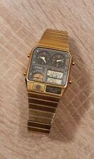 Citizen Ana Digi Temp LCD Vintage Alarm Chronograph Herrenuhr Digital Gold