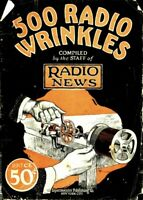 500 Radio Wrinkles by Radio News 1926 PDF on CD