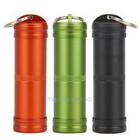 New EDC Outdoor Survival Aluminium Case Waterproof Capsule Seal Bottle Container