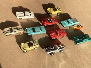 10 Aurora Model Motoring Thunder Jet T-Jet HO Slot Cars solid rivet