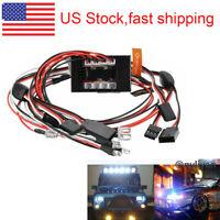 US 1/10 RC Model Car LED Headlight Brake Signal Lights 2.4G PPM FM lamp set