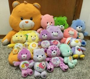Care Bears & Cousins Plush Lot Of 14 Toys Playful Heart Monkey Cozy Penguin