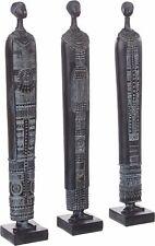 NEU 3 x Dekofiguren Afrika Standfiguren schwarz Schnitzerei  20142
