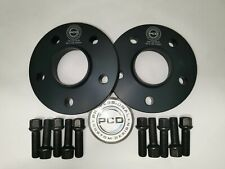 AUDI NEW A4 A5 A6 A7 Pair 5x112 Hubcentric Spacers 15mm 66.5CB 10 Bolts RADBLACK