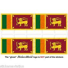 SRI LANKA Flagge Ceylon SRILANKISCHE Fahne Vinyl Sticker, Aufkleber 50mm x4