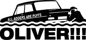 """custom 4"""" all adders are puffs oliver vinyl decal"""