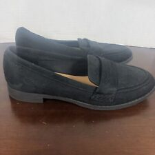 American Eagle Black Slip On Suede Loafers Sz 7.5.