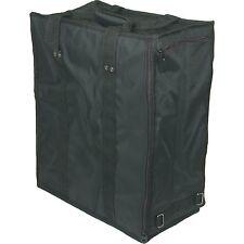 "Jewelry Gem Tray Zipper Carrying Travel Case Black 19"""