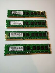 2GB RAM x 4pcs 8GB Total PC3-85000 CL7 ECC 240-Pin UDIMM CLS Computer Laptop