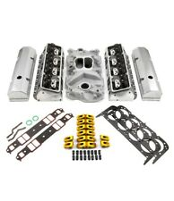 fits Chevy SBC 350 Hyd FT 220cc Angle Plug Cylinder Head Top End Engine Combo