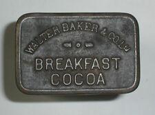 NICE! Vintage Metal Embossed WALTER BAKER & CO LTD Breakfast Cocoa Tin Container