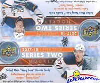 2017/18 UD Series 2 Hockey Factory Sealed 24 Pack Retail Box-6 Young Guns+Jersey