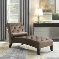 Chaise Lounge Leisure Chair Rest Sofa Home Living Room with Lumber Pillow