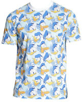 Disney Donald Duck All Over Print Men's T-Shirt New