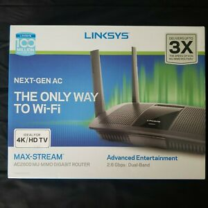 LINKSYS Max-Stream AC2600 Mu-Mimo Gigabit Router 2.6 Gbps Dual-Band Model EA8500