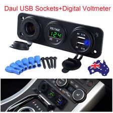4.2A Digital Voltmeter Charger Dual USB Car Cigarette Lighter Socket Power 12V