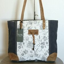 NEW Myra Bag Upcycled Canvas Tote Bag Large Canvas Purse for Women