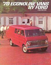 1970 Ford Econoline E-100 E-200 E-300 Van ( NOS) Dealer Sales Brochure