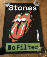 Genuine Rolling Stones 2018 No Filter European Tour VIP Poster in Original Tube