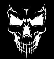 Skull Evil Funny Car Truck Window White Vinyl Decal Sticker Chevy Dodge Ford