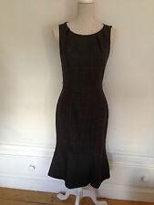 L K BENNETT Ladies brown tweed effect dress UK 8  - 100% wool WORN ONCE