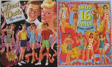 SPECIAL OFFER! 2 Books: FIRST DATE and SWEET 16 Vintage Reproduction Paper Dolls