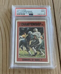 1976 Topps #331 NFC Championship Cowboys Vs Rams PSA 9 MINT Roger Staubach