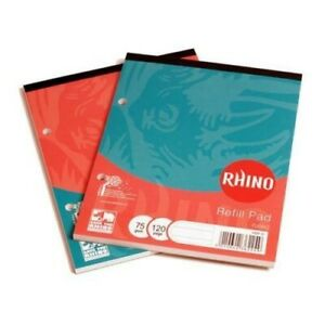 Rhino A5 Headbound 8mm Ruled Refill Pad 120 Pages