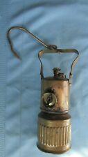 Brass ITP Dewar Lamp Dew-R-Lite Miners Carbide Hand Lamp-Underground Mining