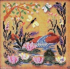 """Mill Hill Buttons & Beads Cross Stitch Kit 5"""" x 5"""" ~ FROG POND Sale #MHCB142"""