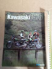 BROCHURE ORIGINALE 1976 PROD. KAWASAKI Z900 KH 400 500 MACH KX KT